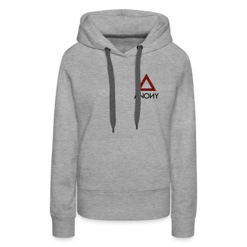 Anony Logo - Sudadera con capucha premium para mujer