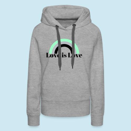 Love is Love ~ Agender design - Women's Premium Hoodie