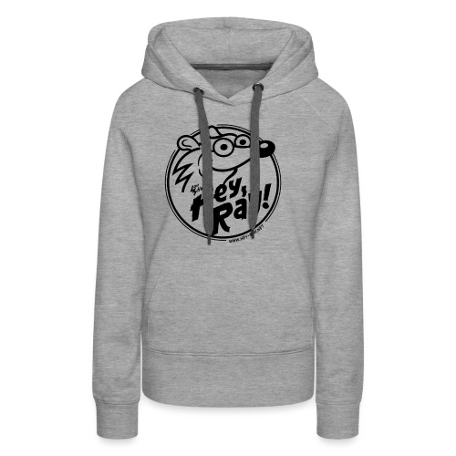 Hey Ray Logo black - Frauen Premium Hoodie