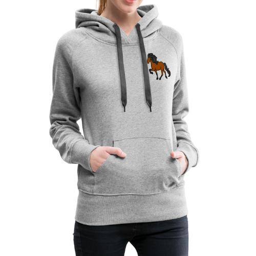 Islandpferd, Brauner, heller - Frauen Premium Hoodie