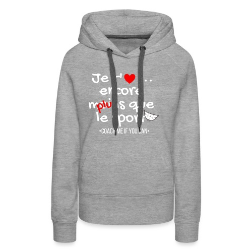 Saint valentin - Sweat-shirt à capuche Premium pour femmes