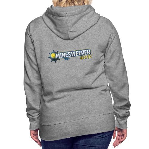 Minesweeper.World Logo mit Icon // 2 Druckbereiche - Frauen Premium Hoodie