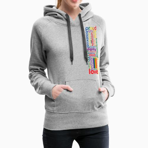 Pride Word Design - Women's Premium Hoodie