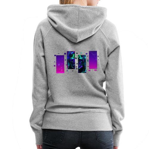 CyberDemate - Sweat-shirt à capuche Premium pour femmes
