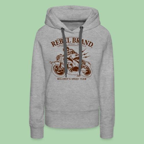 Rebel Brand - Felpa con cappuccio premium da donna