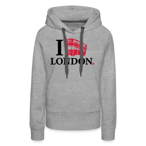I love (Double-decker bus) London - Women's Premium Hoodie