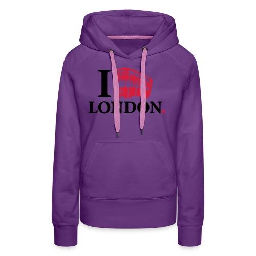 I love (Double-decker bus) London - Women's Premium Hoodie