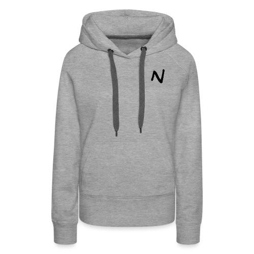 N Nebula Text - Women's Premium Hoodie