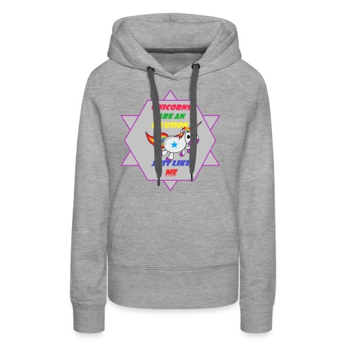Unicorn with joke - Women's Premium Hoodie