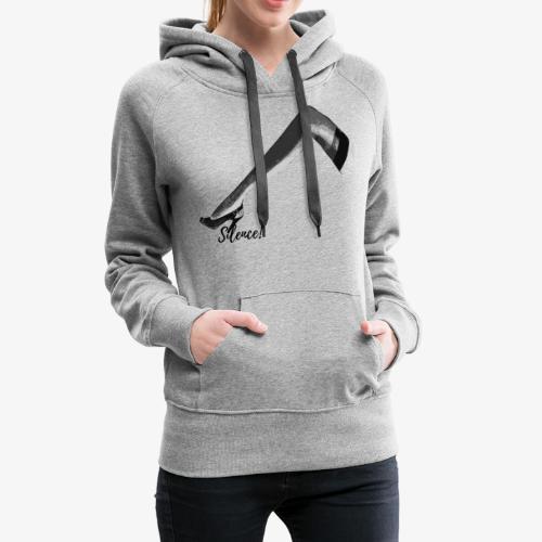 Silence ! - Sweat-shirt à capuche Premium pour femmes