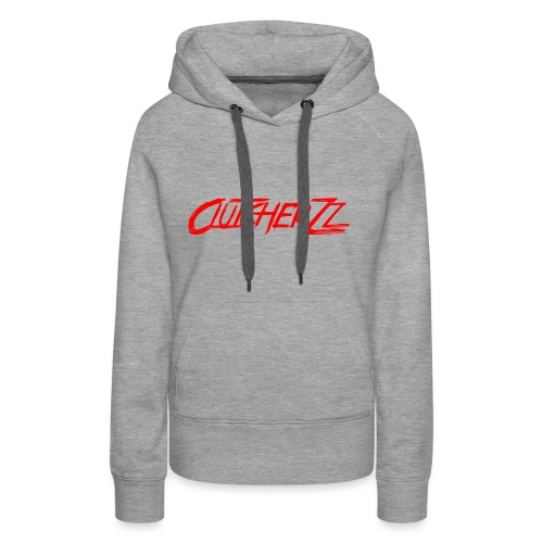 Spreadshirt written logo - Sweat-shirt à capuche Premium pour femmes