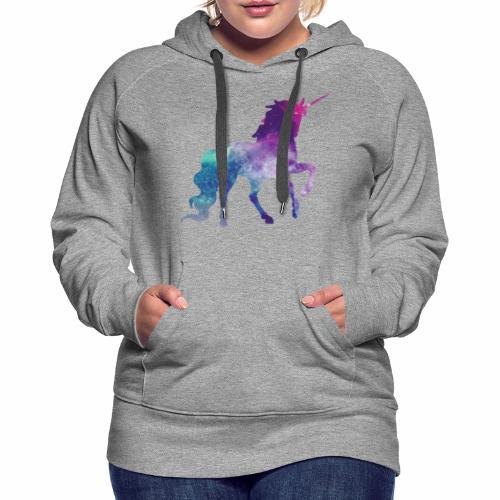 LICORNE CELESTE - Sweat-shirt à capuche Premium pour femmes