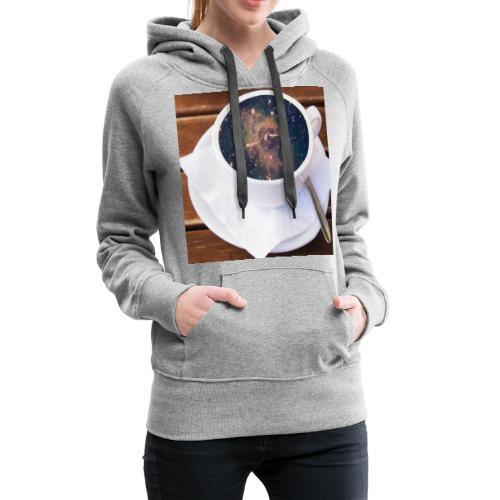 Café - Sweat-shirt à capuche Premium pour femmes