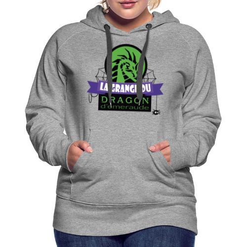 La grange du Dragon d'émeraude - Sweat-shirt à capuche Premium pour femmes