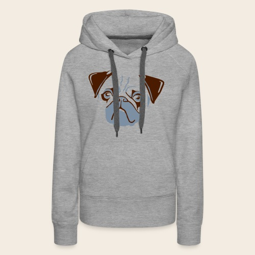 otiz mops kopf 2farbig - Frauen Premium Hoodie