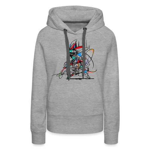 Ninja fighter Easter Bunny / Abstract - Women's Premium Hoodie