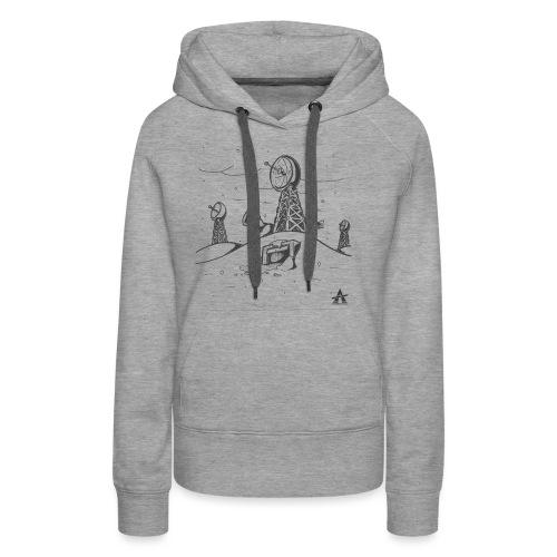 ligne de base arctique croquis - Sweat-shirt à capuche Premium pour femmes