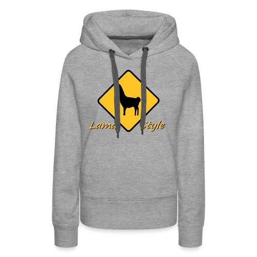 Lama Style - Sweat-shirt à capuche Premium pour femmes