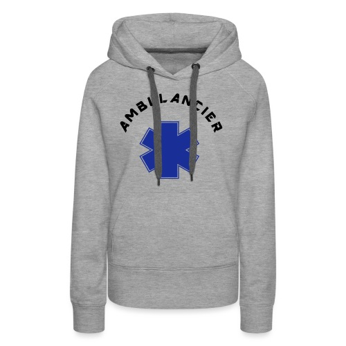 ambulancier logo - Sweat-shirt à capuche Premium pour femmes