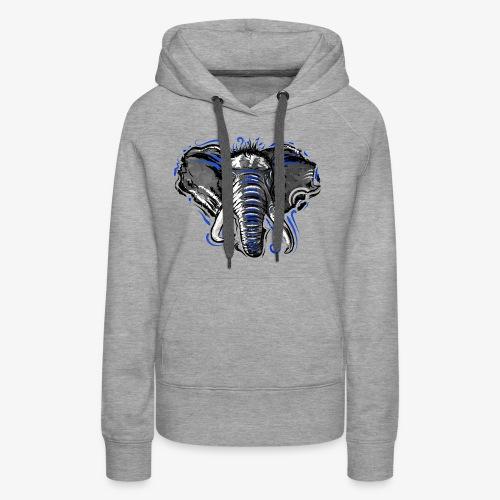 Natural Instinct Éléphant - Sweat-shirt à capuche Premium pour femmes