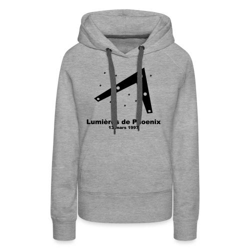 OVNI Lumieres de Phoenix - Sweat-shirt à capuche Premium pour femmes