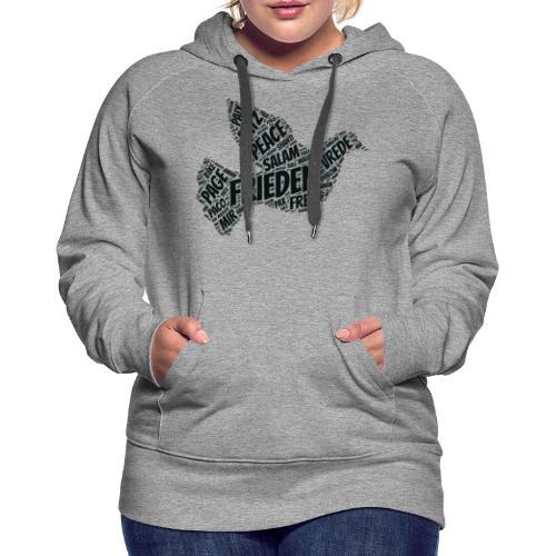 Frieden Taube Peace Pace Mir - Frauen Premium Hoodie