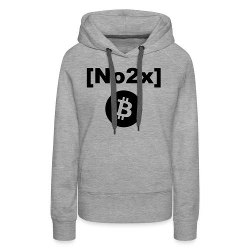 Bitcoin [No2x] - Sweat-shirt à capuche Premium pour femmes