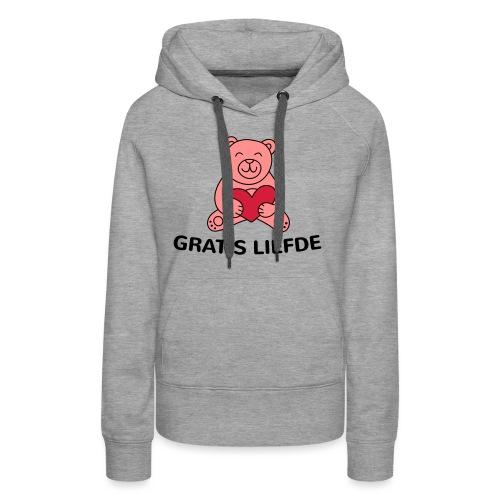 Grappige Rompertjes: Gratis liefde - Vrouwen Premium hoodie