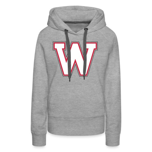 W-badge - Sweat-shirt à capuche Premium pour femmes
