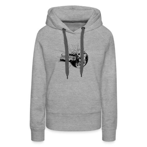 logoartefaktbus - Sweat-shirt à capuche Premium pour femmes