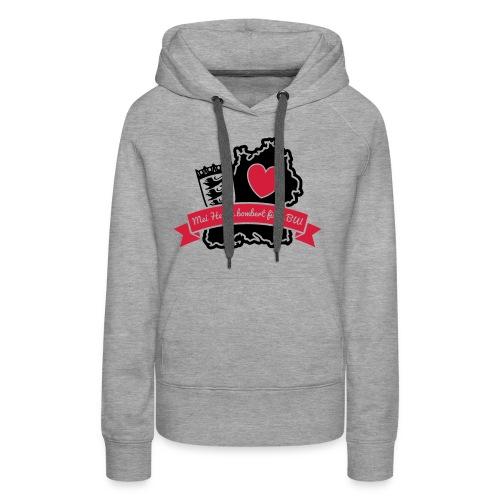 Herzle BW - Frauen Premium Hoodie