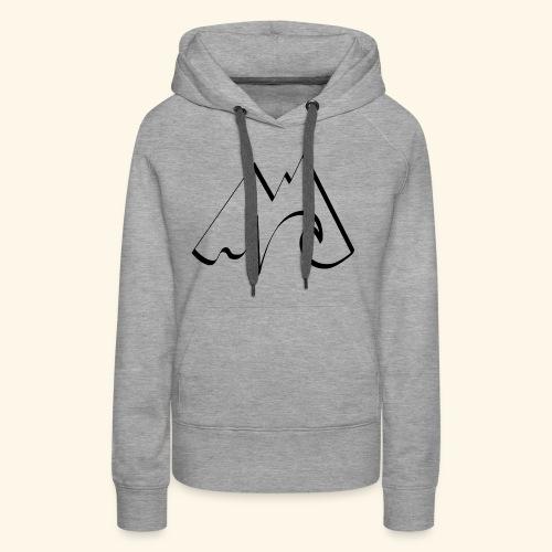 Logo SURFTRIP noir - Sweat-shirt à capuche Premium pour femmes