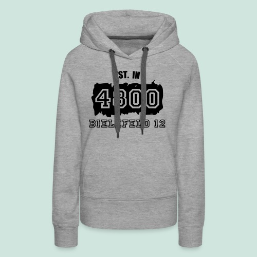 Established 4800 Bielefeld 12 - Frauen Premium Hoodie