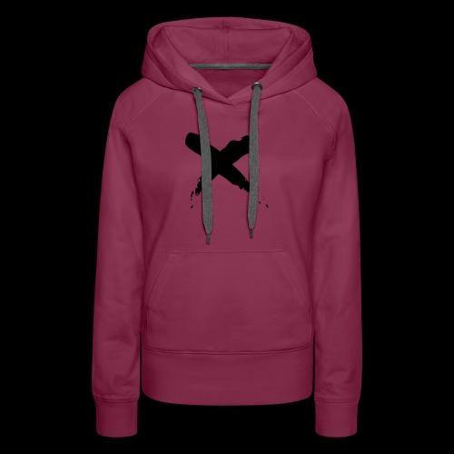 x - Felpa con cappuccio premium da donna