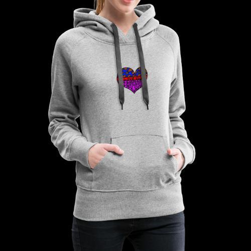 Herz Leben Welt Love you - Frauen Premium Hoodie