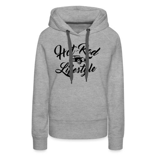 Hot-Rod lifestyle (front&back) - Sweat-shirt à capuche Premium pour femmes