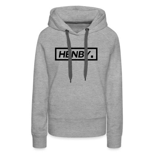 Henby. (Black on Grey) (Unisex Hoodie) - Women's Premium Hoodie
