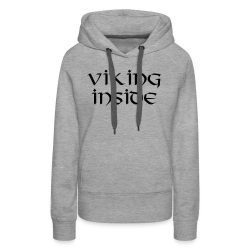 vikinginside vectoris - Sweat-shirt à capuche Premium pour femmes