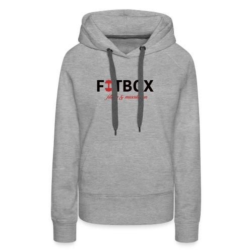 fitbox logo blanc - Sweat-shirt à capuche Premium pour femmes
