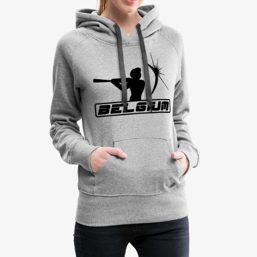 Belgium 2 - Sweat-shirt à capuche Premium pour femmes