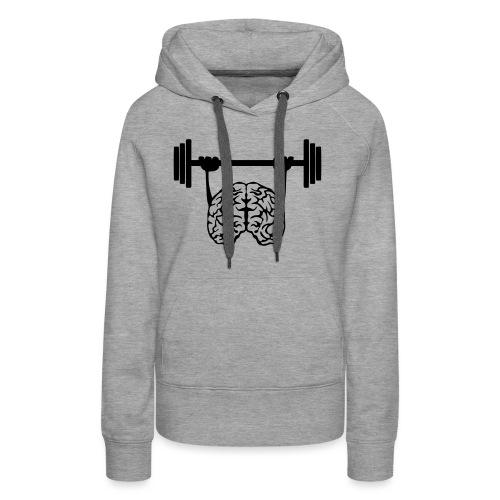 cerveau cervelle barre musculation - Sweat-shirt à capuche Premium pour femmes