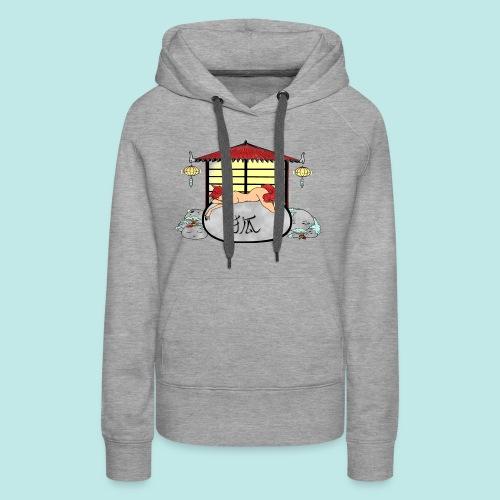Déesse renard Inari jardin zen temple japonais - Sweat-shirt à capuche Premium pour femmes
