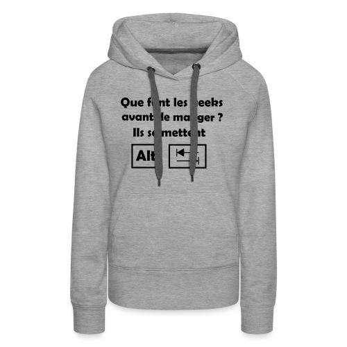 Alt Tab - Sweat-shirt à capuche Premium pour femmes
