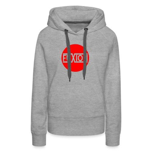 logo circulaire 2 1 - Sweat-shirt à capuche Premium pour femmes