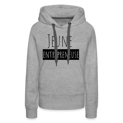 Jeune Entrepreneuse - Sweat-shirt à capuche Premium pour femmes
