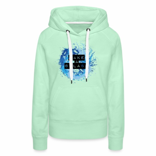 Make a Splash - Aquarell Design in Blau - Frauen Premium Hoodie