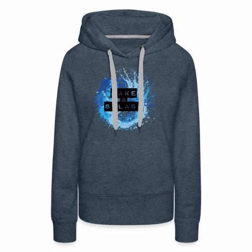 Make a Splash - Aquarell Design in Blau - Frauen Premium Hoodie