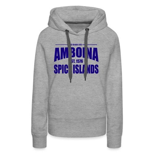 Cidade de Amboina - Blue - Vrouwen Premium hoodie