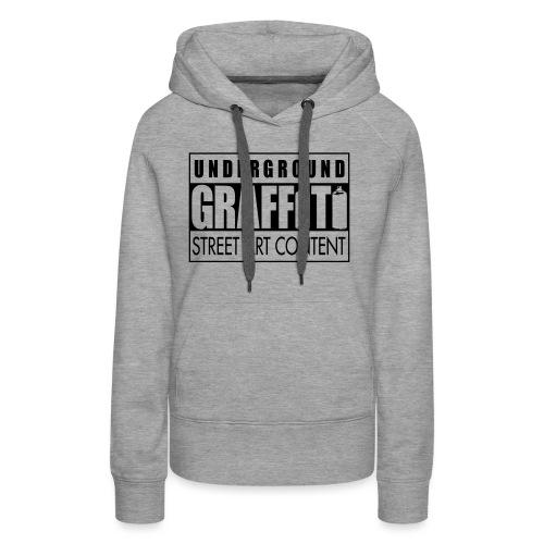 Underground graffiti flex - Sweat-shirt à capuche Premium pour femmes