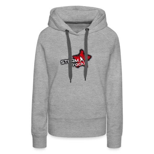 SteamRocks RGB WeisseSchrift aufTranzparenz 1000px - Frauen Premium Hoodie